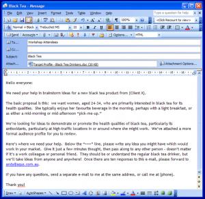 Brainwriting by Email